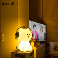 30 50cm Big Bear Dimming Night Light for Bedroom Bedside Lamps Home Decor Kid Children Gift LED Desk Lamp Table Light Luminaira