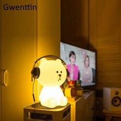 30-50cm Oso Grande luz de noche de atenuación para lámparas de noche para dormitorio decoración del hogar chico niños regalo LED lámpara de escritorio lámpara de mesa Luminaira