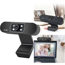Built-in Microphone Driverless ABS Computer Peripherals Video Conference USB 1080P H-D Webcam for PC