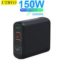 Utbvo 150w 4 портовый Ган настенный адаптер 2 x usb a quick