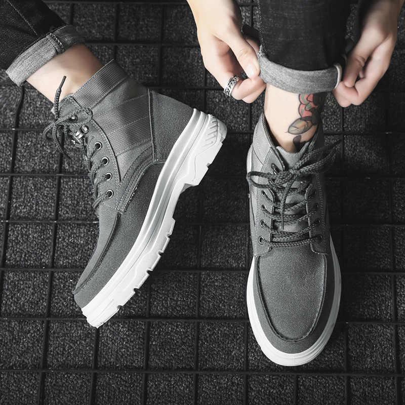 秋冬メンズブーツ靴男性 Cusaul Bota Ş デやつ高トップ男性快適な靴ファッション男性マーティンブーツ