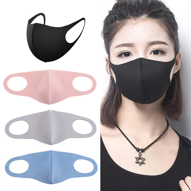 4 Pieces Anti Flu Pollution Mouth Mask Reusable Dust Proof Face Mask 1