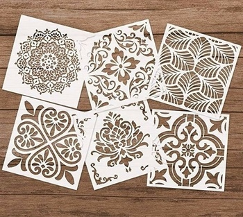 15 CM DIY Craft Mandala Stencils for Painting on Wood,Wall Art Scrapbooking Stamping Album Decorative Embossing Paper Cards - sale item School Supplies