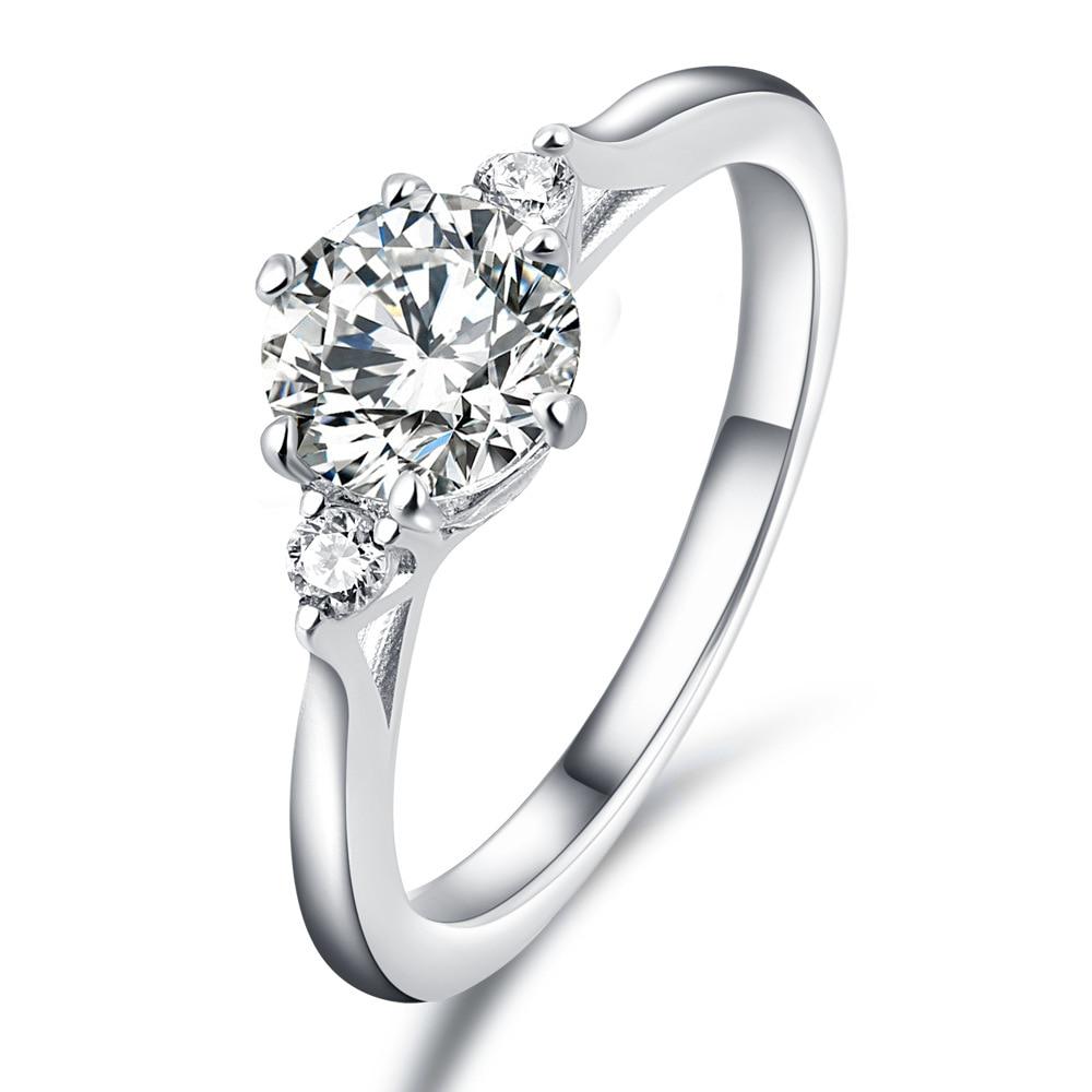 Хит продаж, 925 пробы Серебряное кольцо на указательный палец для женщин, модные свадебные кольца с цирконием 2019