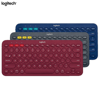 Logitech K380 Wireless Bluetooth Keyboard Original Multi device Light Ultra Mini Keybord for iPhone iPad Android Computer Mac OS