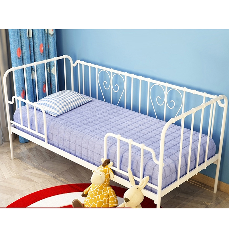 Environmental protection children's bed high guardrail stitching big bed widened side bed girl princess bed boy single bed