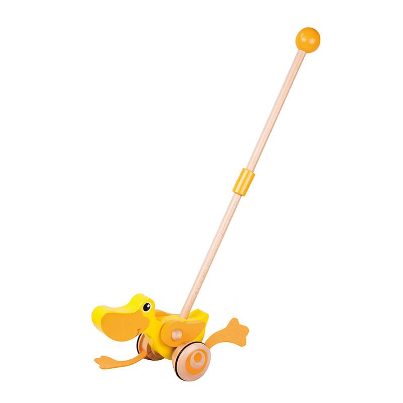 Parrowbebe Baby Wooden Duck Push 1-3 Years Old Baby Kids Walk Toy Children Walker Push Infant Stroller Wood Music Toy