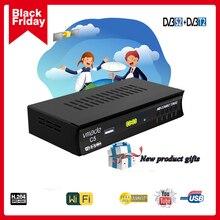 הכי חדש DVB T2 DVB S2 יבשתי לווין מקלט קומבו ביס תמיכה 1080P HD DVB T2 S2 קולט DVB S2 לווין מקלט