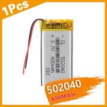 Akumulator 3.7 V baterie litowo-polimerowe 502040 400 mah z PCB do MP3 MP4 MP5 GPS PSP E-book zabawka elektryczna LED Light