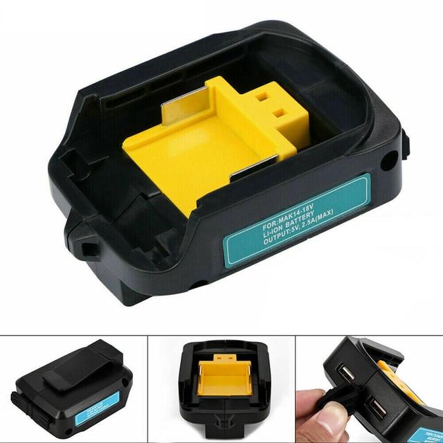 Dreamestone USB зарядное устройство адаптер конвертер для Makita ADP05 18 в 14,4 В литий-ионный аккумулятор 2 USB порта BL1415 BL1430 BL1815
