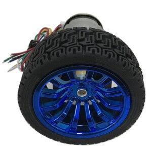 Image 3 - Moteur dencodeur à courant continu, couple élevé 6/12V, haute vitesse 7 à 1590 tr/min, moteur à courant continu, vitesse réversible réglable avec jeu de roues