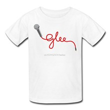 Glee Microphone Lettering Mens T-Shirt Summer New Print Man Cotton Fashion Print T Shirt Men Top Tee New T Shirts Funny Tops(China)