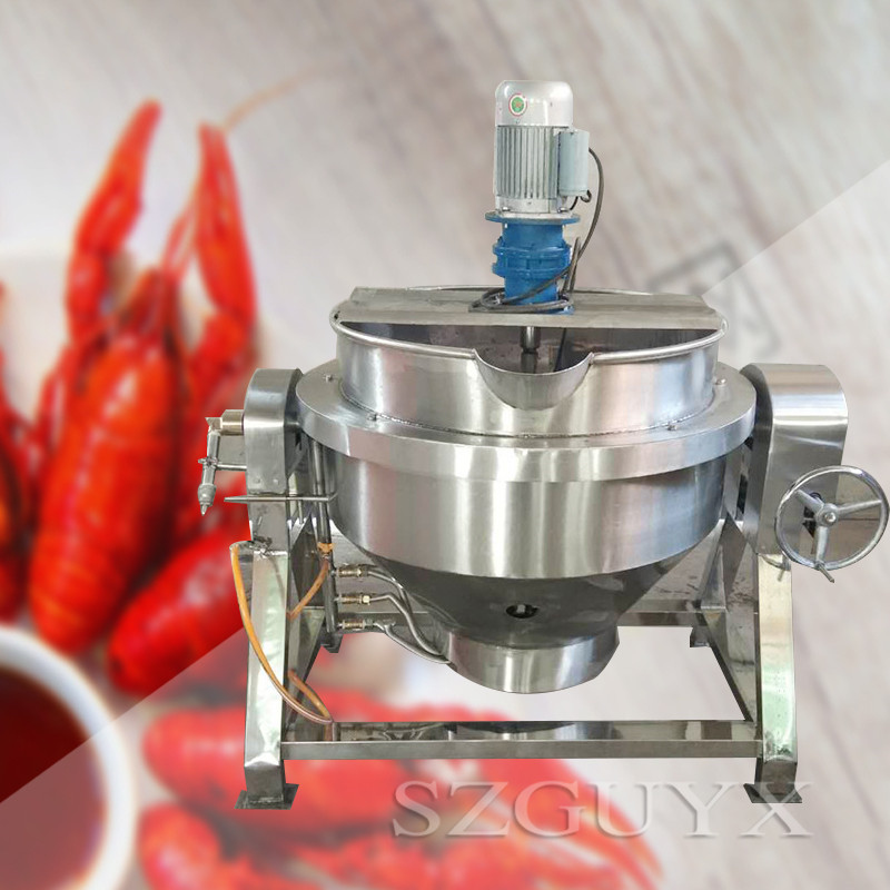 Jacketed pan Gas mixing pot Cooking pot For food processing Tiltable Fixed Braised meat sandwiched pot