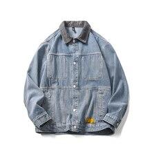 iiDossan 2020 Men Denim Jackets Men Fashion Jeans New Hip Hop Coats Harajuku Thicken Warm Coats Women Japanese Sweatshirts