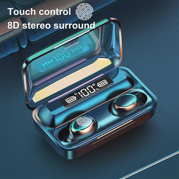 Wireless Earphones LED Power-Display With Charge-Box Headpone 3D-Stereo Noise-Cancelling Sport Bluetooth Earphone fone bluetooth