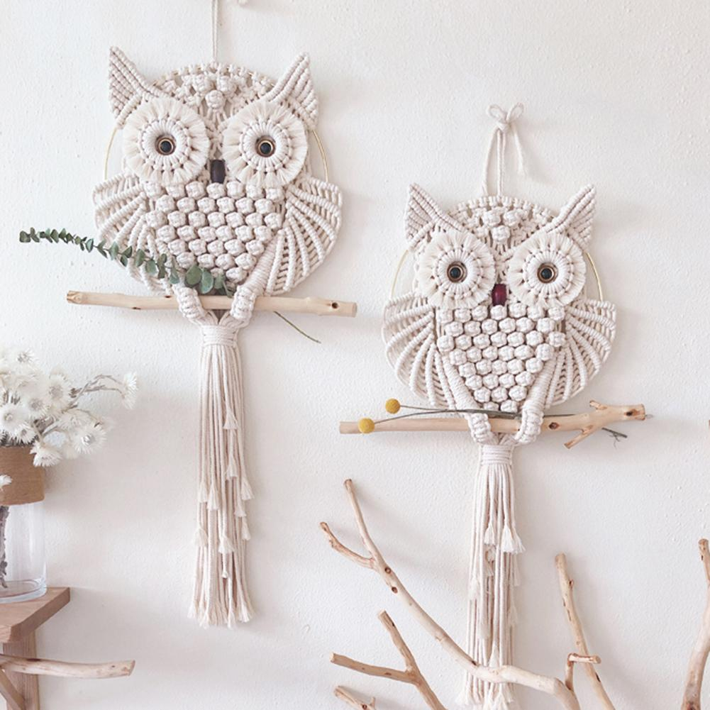 Nordic Style Owls Dream Catchers Cotton Macrame Wall Hanging Handmade Tassels Dreamcatcher Home Decoration