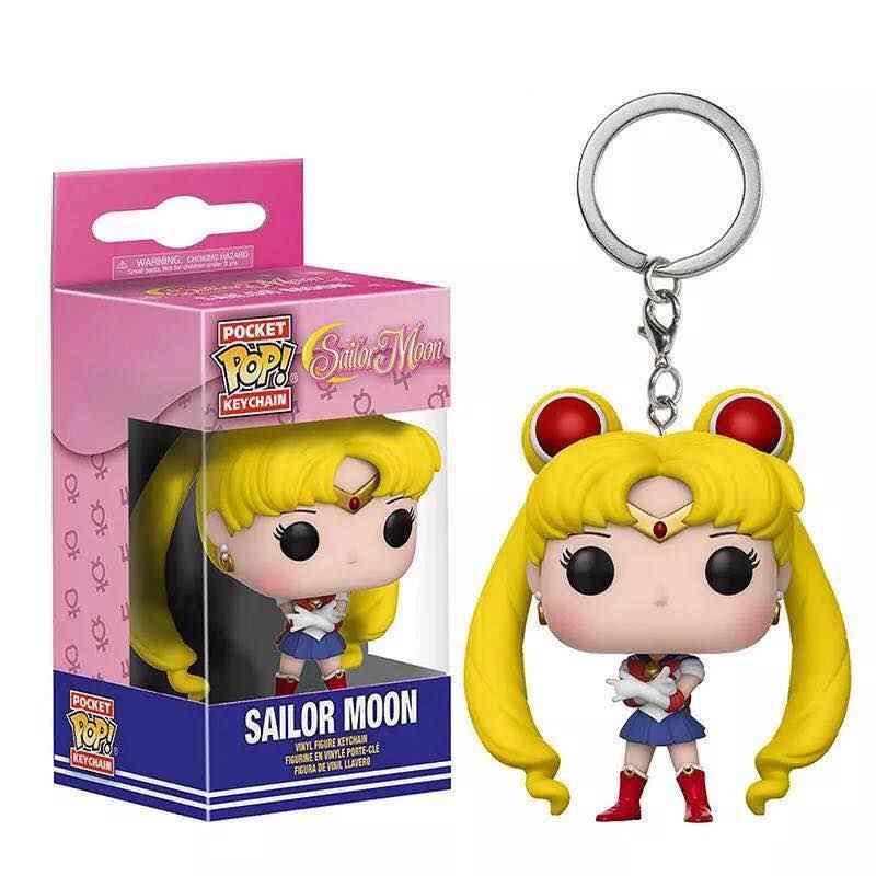 ファンコ Pop アニメ美少女戦士セーラームーンルナちびムーンキーホルダービニールアクションフィギュア Brinquedos コレクションモデルのおもちゃ子供のギフト