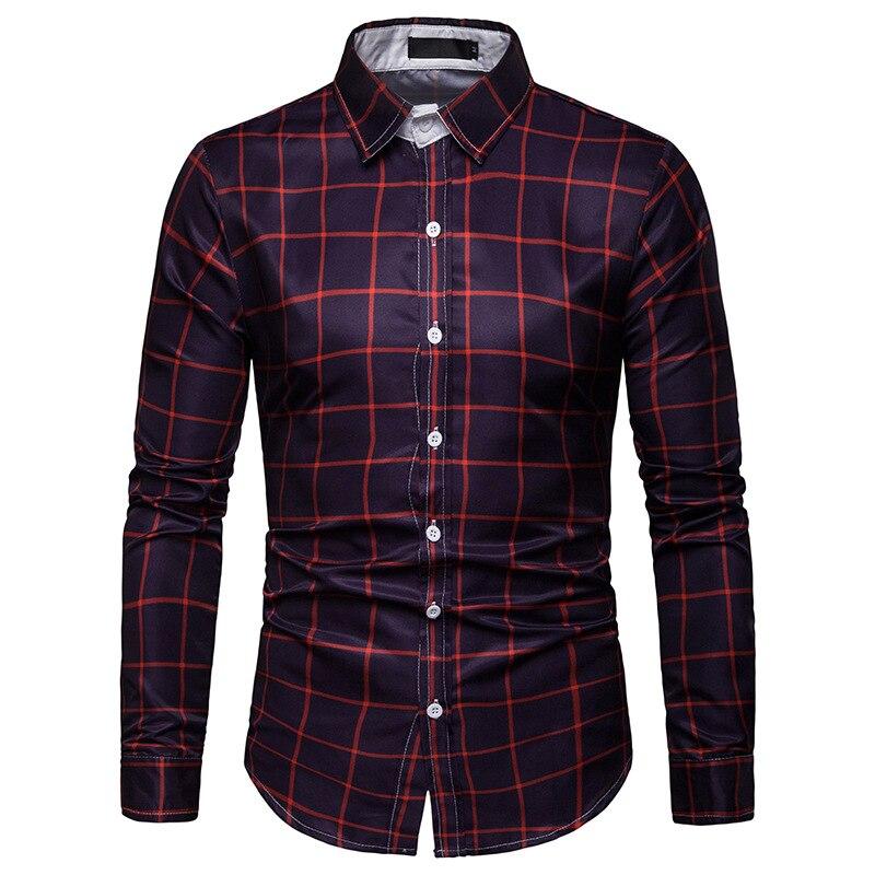 Рубашка с длинным рукавом мужская рубашка в клетку рубашка мужская рубашка уличная полосатая рубашка мужская рубашка с длинным рукавом муж...