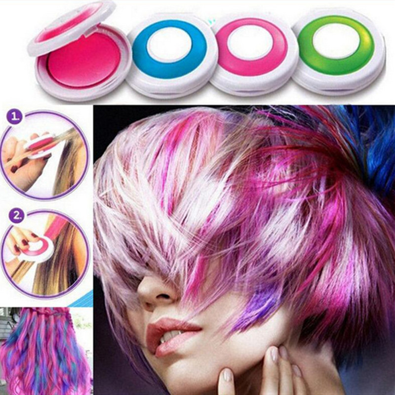 Image 2 - Hot 4 colors Hair Color Hair Chalk Powder European Temporary Pastel Hair Dye Color Paint Beauty Soft Pastels Salon-in Hair Color Mixing Bowls from Beauty & Health
