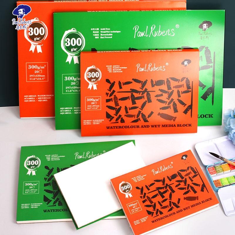officiel-paul-rubens-300g-plein-100-coton-neutre-sans-acide-papier-elegant-aquarelle-livre-peint-a-la-main-pour-artiste-a2-a3-a4-a5