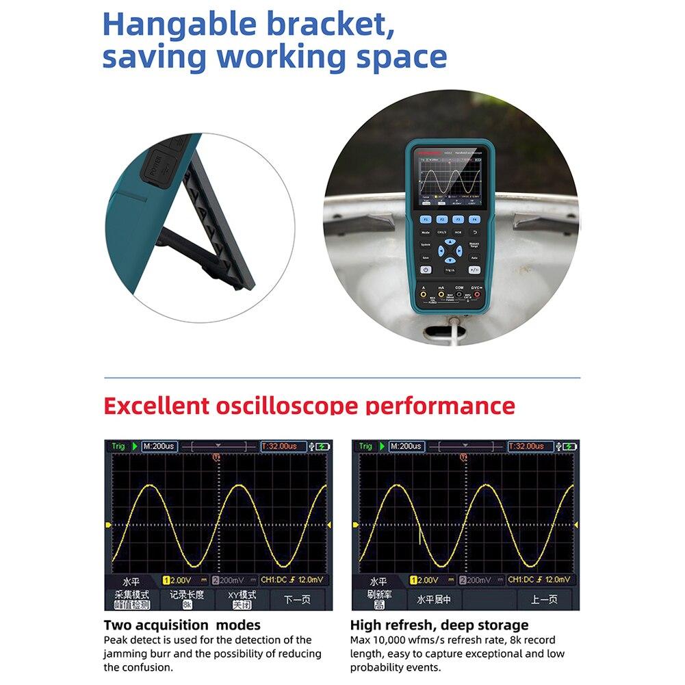 digital osciloscópio + multímetro tensão corrente resistência