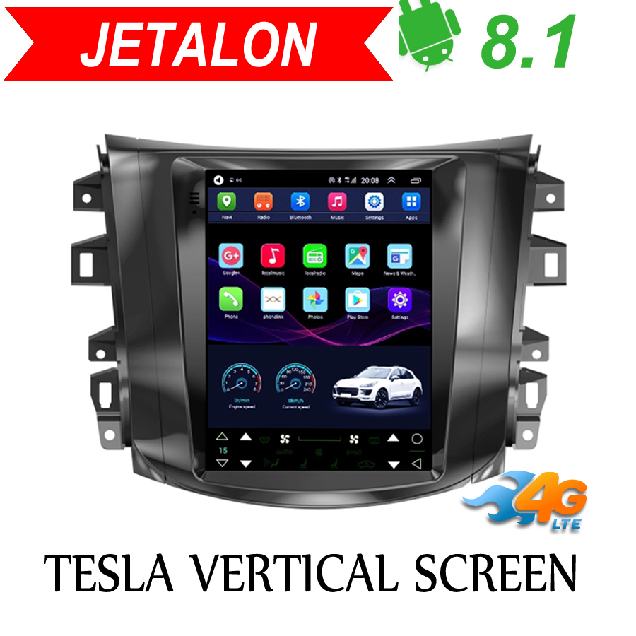Tesla Vertical Screen Android 8.1 Car Gps Multimedia Radio Player In Dash For Nissan Navava Terra NP300 Car Navigation Stereo