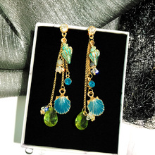 Irregular Rhinestone Sun Moon Drop Earrings Pendant Crystal Asymmetry Long Dangle Earrings For Women Wedding Jewelry недорого