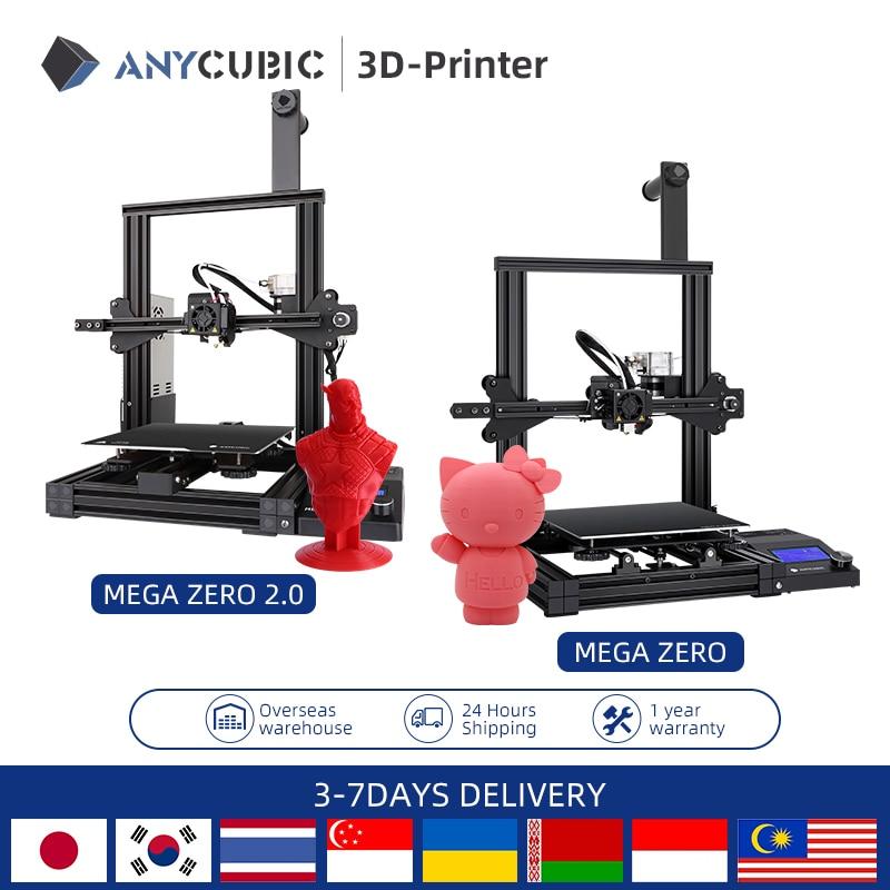ANYCUBIC Mega Zero1. 3D принтер 0 & 2,0, настольный 3D-принтер с цветной печатью, экструдер с металлической рамой, высокоточная печать «сделай сам»