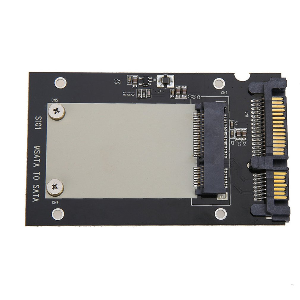 Universal <font><b>mSATA</b></font> Mini SSD to 2.5 inch <font><b>SATA</b></font> 22-Pin Converter <font><b>Adapter</b></font> card for Windows2000/XP/7/8/10/Vista Linux Mac 10 OS image
