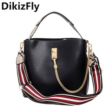 DikizFly Fashion Totes Bags For Women 2019 Female Crossbody Hot Sale Shoulder Bag High Quality PU Leather Handbag Messenger
