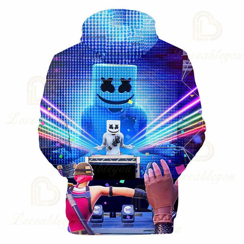 Muziek Dj 3 Tot 14 Jaar Kinderen Hoodies Spel 3D Gedrukt Hoodie Sweatshirt Jongens Meisjes Harajuku Cartoon Jas Tops Tiener kleding