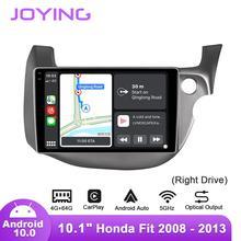 Joying Radio de coche Android 10 de 10,1 pulgadas para Honda Fit/Jazz 2008 2013, unidad derecha, GPS, DSP, SPDIF, Subwoofer, Carplay, 5GWIFI, Topslink, DAB