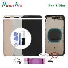 Высококачественная задняя крышка AAA для iphone 8 8G / 8 Plus 8 Plus, Крышка корпуса, задняя дверь, шасси, средняя рамка, стекло с CE или No CE