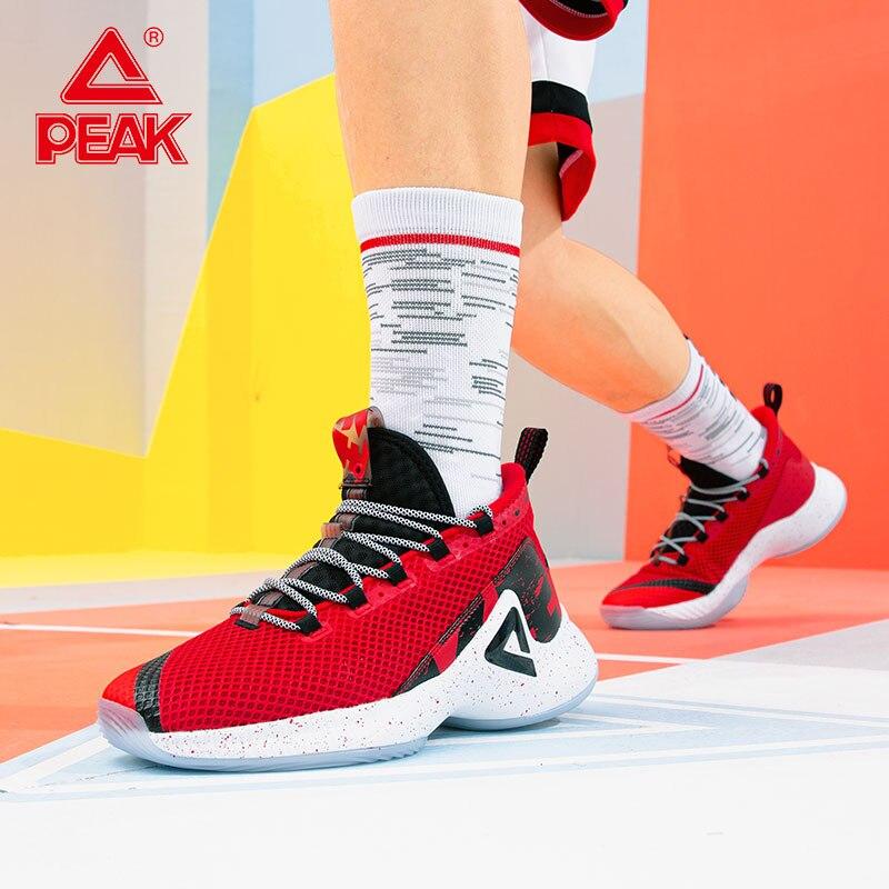 PEAK Men Basketball Sneakers Men's Breathable Shockproof Sports Shoes P-MOTIVE Outdoor Wearable Non-slip athlete Sport Shoes