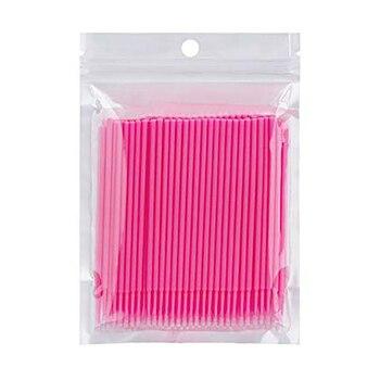 100pcs Disposable Cotton Swabs Make-up Tools Swabs Eyelash Brushes Cleaning Swab Natural Eyelashes Remover