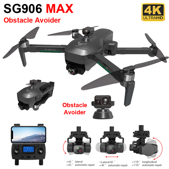 ZLL SG906 MAX Pro 2 GPS Drone 4K HD Camera Laser Obstacle Avoidance 3-Axis Gimbal WiFi FPV Professional RC Quadcopter Dron 1