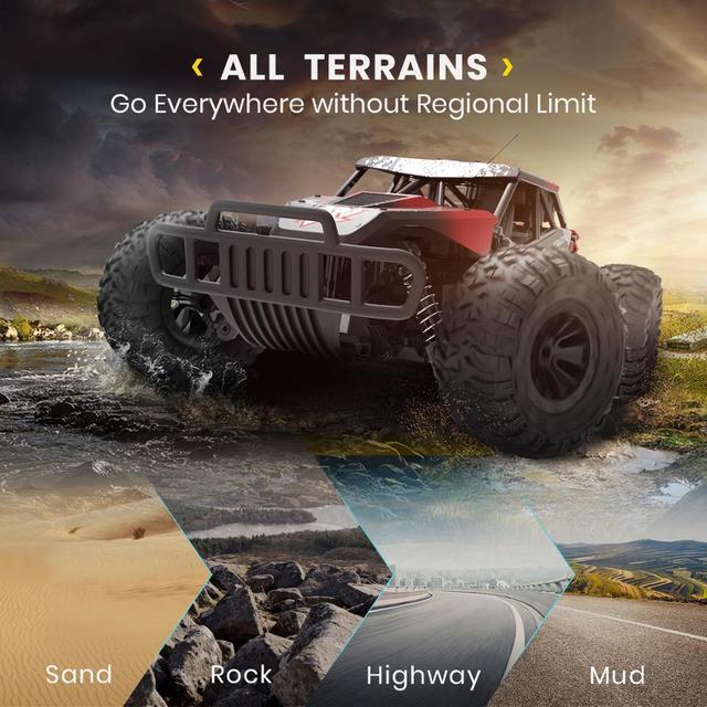 DEERC DE37 1:16 RC Car All Terrains Off Road Buggy Truck 30 Mins Play Time 20 KM/H High Speed RC Dift Car Toys For Children 1