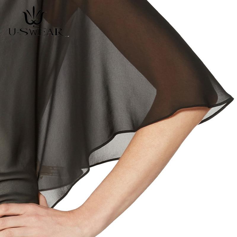 4-Женское черное вечернее платье, шифоновая шаль для выпускного вечера, вечерние v-образный вырез с пуговицами, элегантная простая Мягкая Пов... смотреть на Алиэкспресс Иркутск в рублях