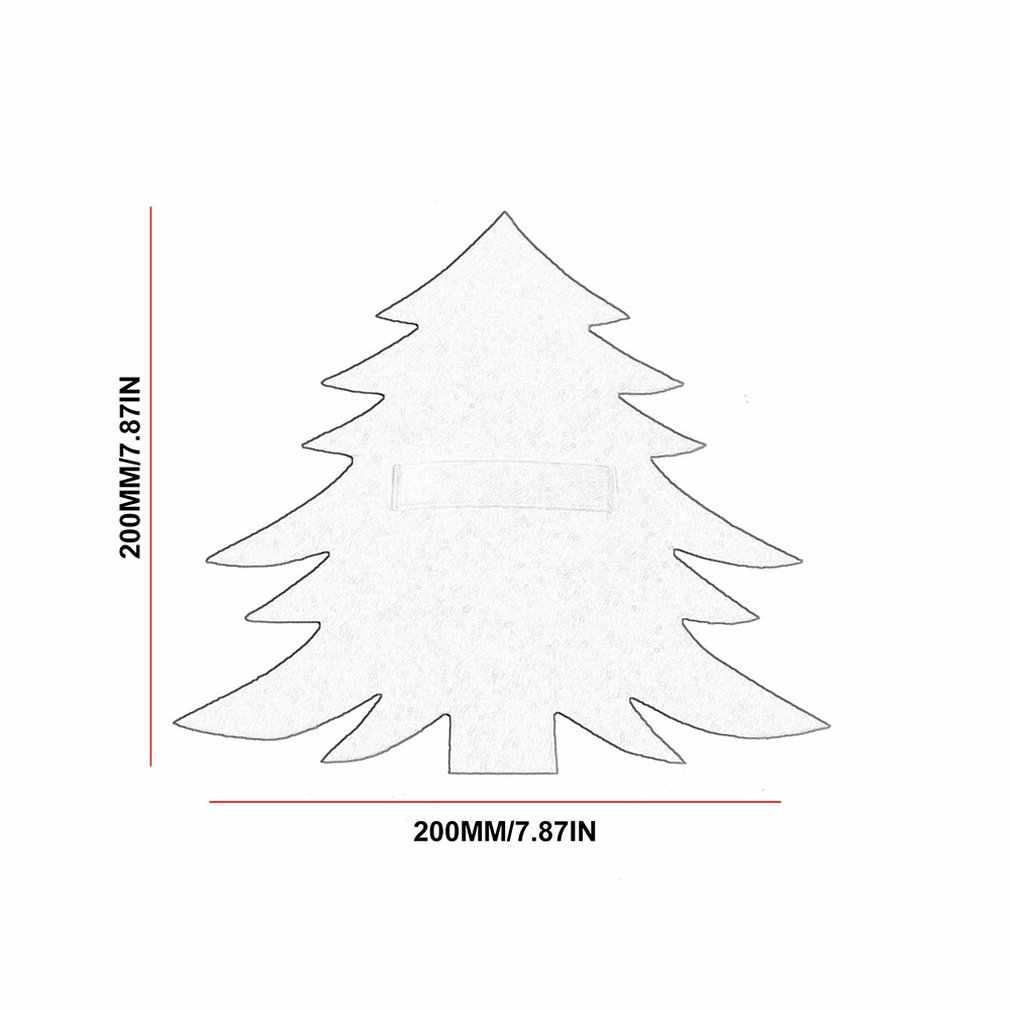 Juego de cubiertos de árbol de Navidad verde rojo, cuchillo y tenedor para árbol de Navidad, regalo para niños, árbol de Navidad