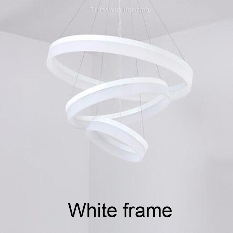 white frame lamp