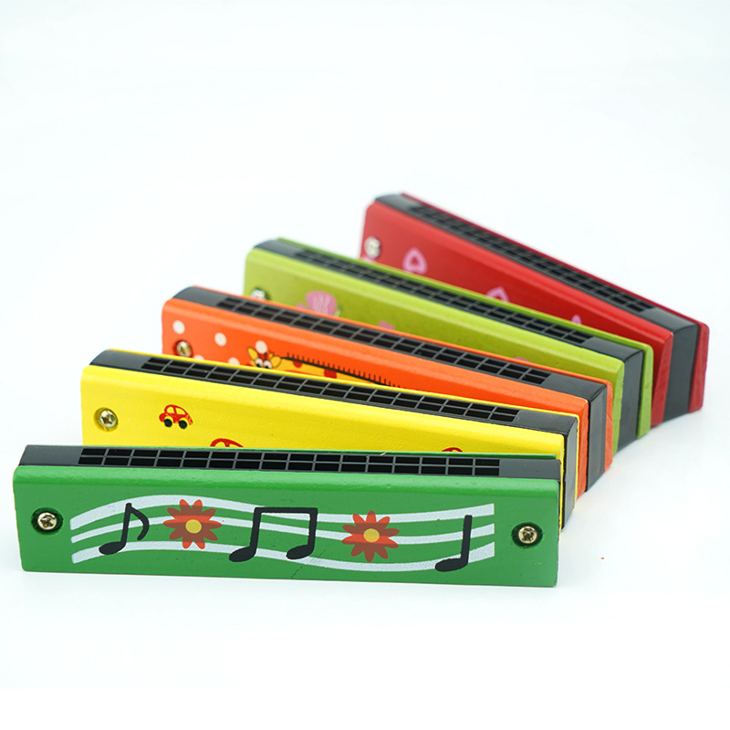 32 Hole Children Whistle Wood Harmonica Baby Unisex Have Beginners ENLIGHTEN Practice Hamonica Toy