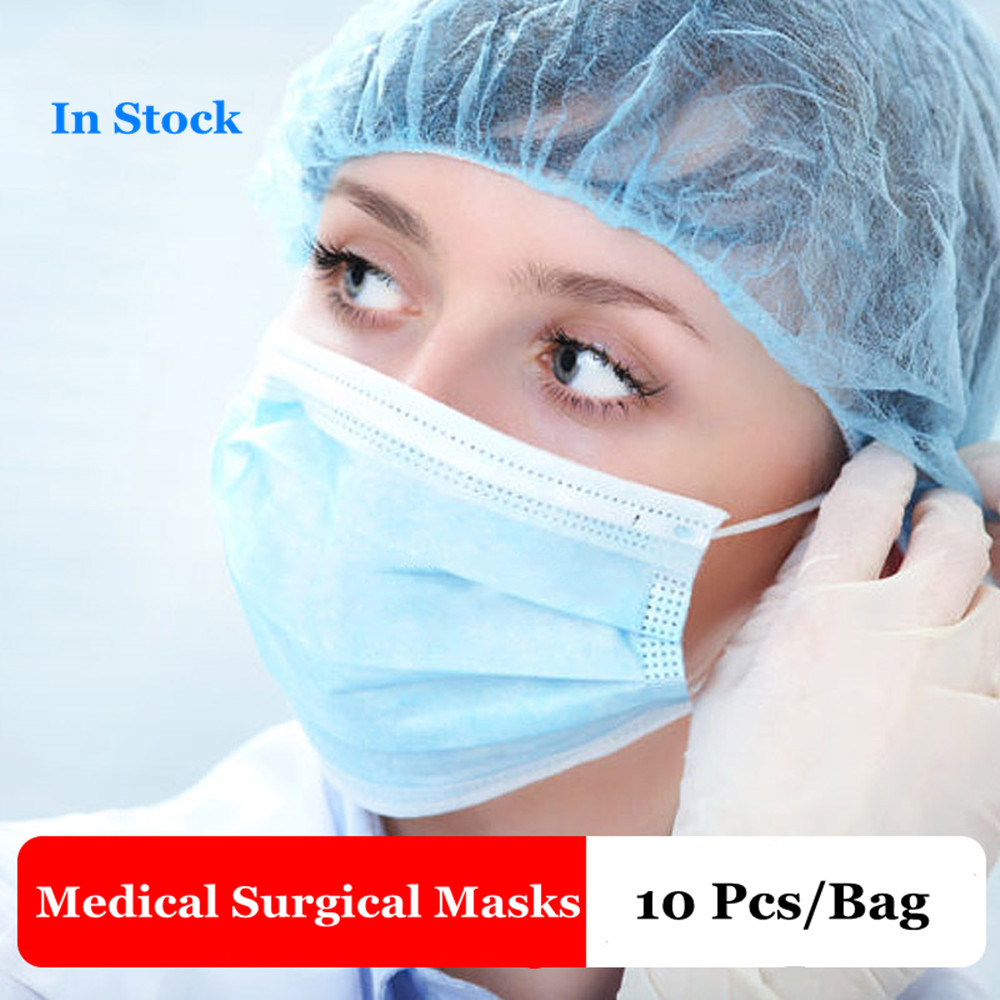 40 Pcs Profession Medical Anti Virus Surgical Face Mask 3 Ply 