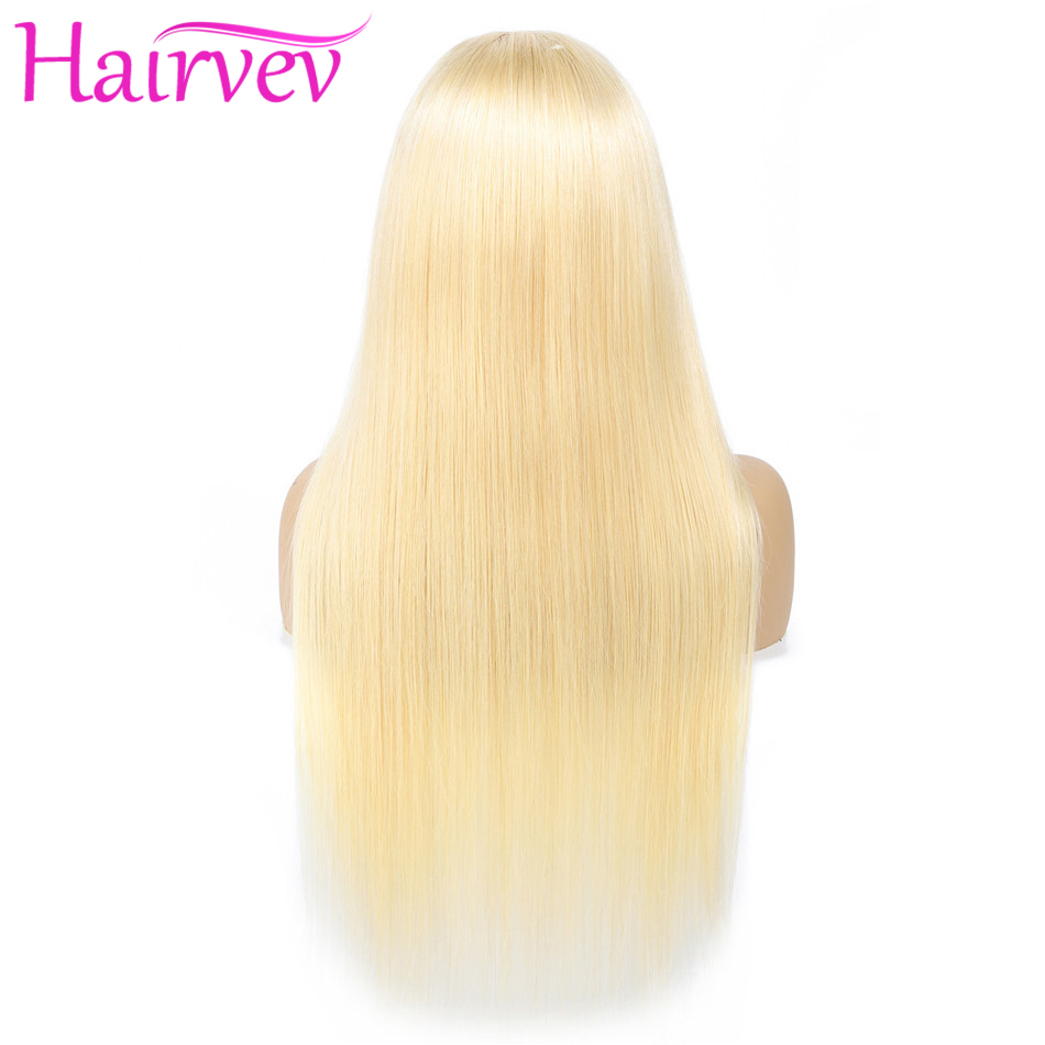 Hairvev 613 Straight Lace Front Wig With Baby Hair Remy Brazilian 150% Density Blonde Lace Front Human Hair Wigs For Black Women
