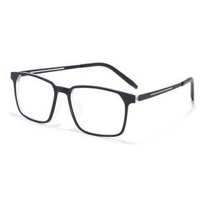 Image 2 - Okulary optyczne rama dla mężczyzn i kobiet 8878 Titanium elastyczne nogi z TR 90 plastikowe oprawki okularowe z przodu obręczy