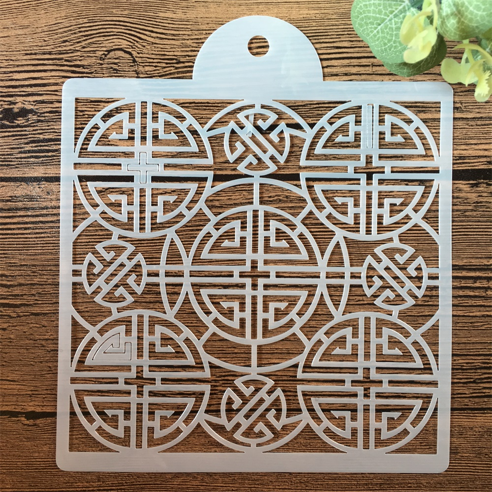 15*15cm Chinese Happiness DIY Craft Layering Stencils Painting Scrapbooking Stamping Embossing Album Paper Card Template