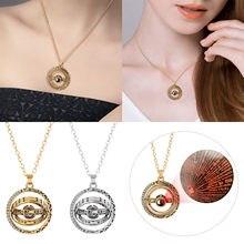 Mode astronomique boule Projection collier 100 langues je t'aime pendentif rotatif collier hommes femmes Couple collier # fs