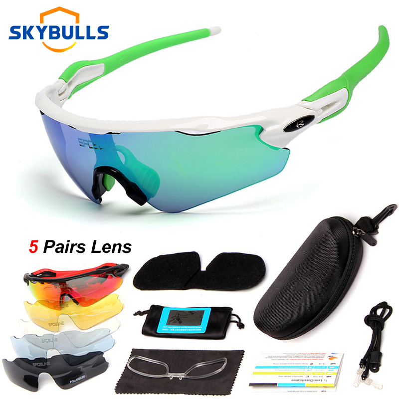 Polarized <font><b>5</b></font> <font><b>Lens</b></font> Cycling <font><b>Glasses</b></font> Outdoor Sports Cycling Goggles Professional <font><b>Bike</b></font> Protection Eyewear MTB Brand Ultralight image