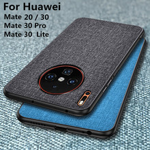 For Huawei Mate 30 Pro Case 20 lite cover Luxury Fabric Cloth Slim Hard PC Back Cover Mate20 20x Fundas