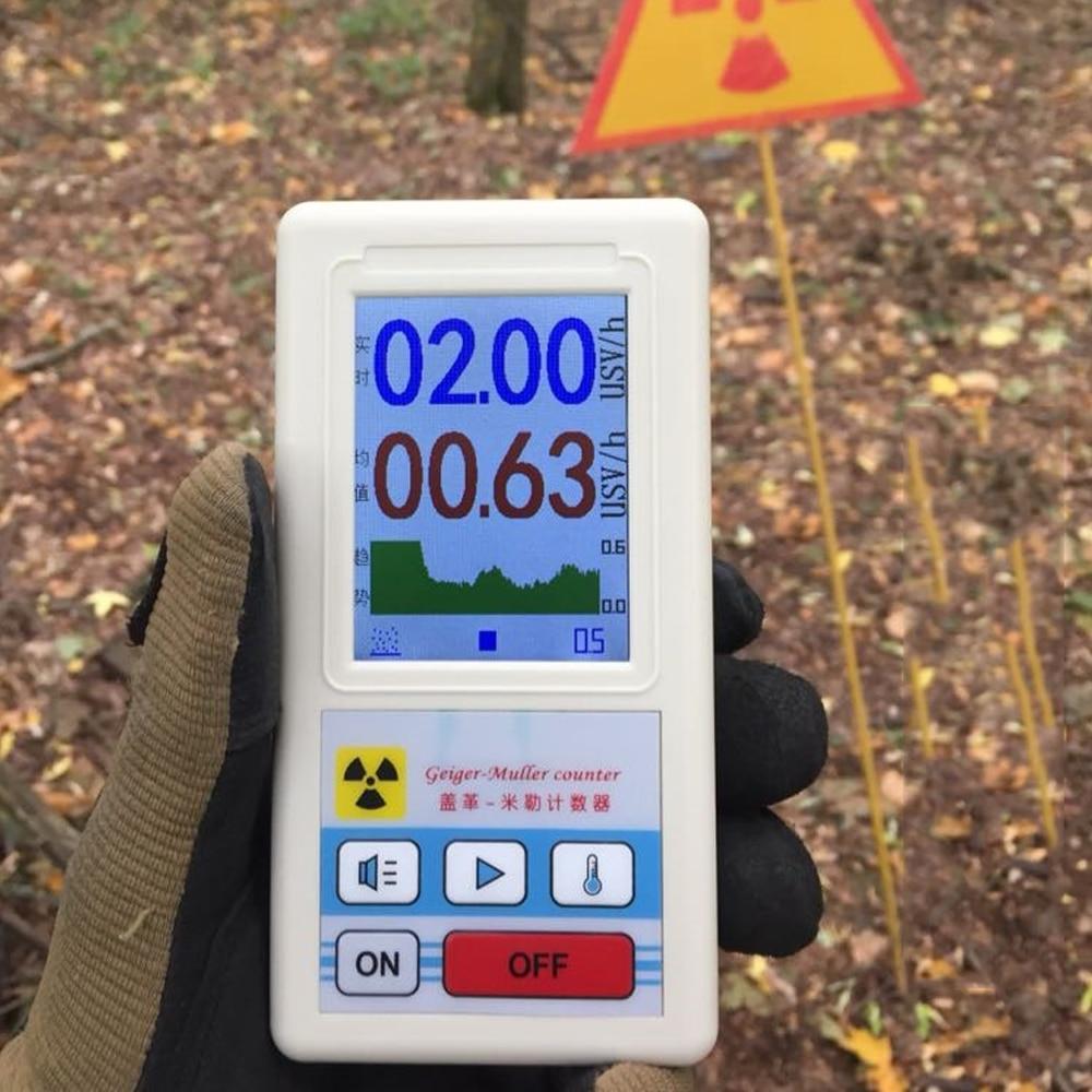 Détecteur de rayonnement nucléaire de compteur de Geiger détecteur portatif de bêta Gamma de rayon X surveillance extérieure d'intérieur de détection de rayonnement