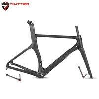 Twitter R3 Road Bike 700c 18k Carbon Frame+Fork Disc Brake Thru Axle V Brake QR Racking Road Pneumatic Broken Air